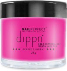 Roze Dip poeder voor nagels - Dippn Nailperfect - 023 Blondes Just Wanna Have Fun - 25gr