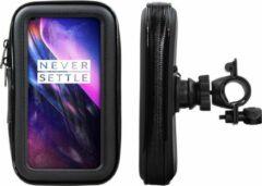 Shop4 - OnePlus 8 Fietshouder Stuur Spatwaterdicht Zwart