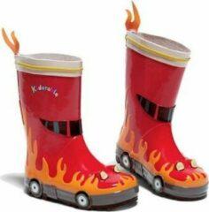 Rode kidorable regenlaarsjes brandweer