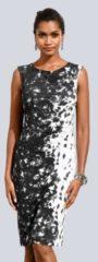 Kleid Alba Moda Schwarz/Weiß/Grau