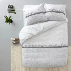 Sleeptime Elegance Sleeptime Goodnight my Love - Dekbedovertrek - Eenpersoons - 140x200/220 + 1 kussensloop 60x70 - Wit