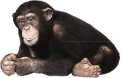 Zwarte KEK Amsterdam Safari Friends: Chimpanzee - Muursticker - Multicolor