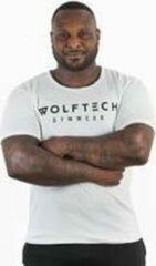 Wolftech Gymwear Sportshirt Heren - Wit - L - Slim Fit - Sportkleding Heren