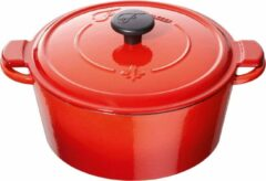 Fontignac cocotte mains libres - ronde - 26 cm - rood