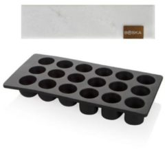 Zwarte Boska Choco Bonbon DIY Serveer Set - Maak Je Eigen Bonbons - Incl. Marmeren Serveerplank - Wit
