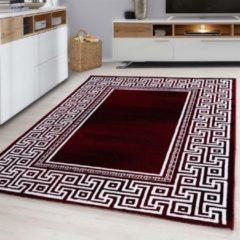 Ayyildiz Parma Design Vloerkleed Zwart / Wit Laagpolig - 80x300 CM