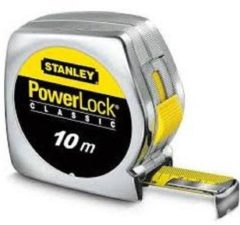 Stanley meetlint PowerLock, mylar. coating, (lxb) 10mx25mm, behuizing kunststof