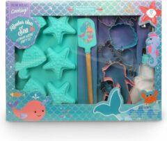 Turquoise Handstand Kitchen Zeemeermin Party Bak Set