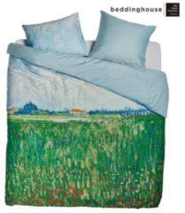 Beddinghouse x Van Gogh Museum Field with Poppies Dekbedovertrek - Tweepersoons - 200x200/220 cm - Groen