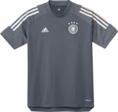 Donkergrijze Adidas uefa euro 2020 dfb duitsland trainingsshirt 20/22 grijs kinderen