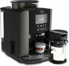 Zwarte Krups EA819E volautomatische espressomachine