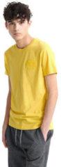 Gele T-shirt Korte Mouw Superdry M1010067A