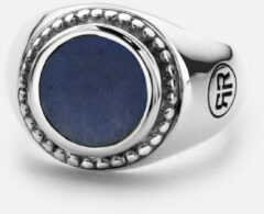 Donkerblauwe Rebel and Rose RR-RG011-S Ring Women Round Lapis Lazuli zilver-blauw Maat 59