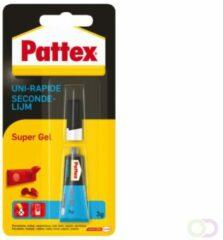 Bruna Secondelijm Pattex super gel tube 3gram op blister
