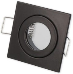 Ledin LED line Inbouwspot - Vierkant - Waterdicht IP44 - MR11 Fitting - 55x55 mm - Mat Zwart