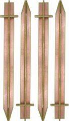 Amanka Massiv XL 4 Stahl Erdnägel T-Profil Loch 300x25mm Zelt-Heringe für harte Böden