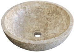 Waskom Imso Lavabo Tondo Trotol Beige Marmer 40x15cm