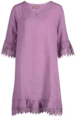Rosa Kleid aus Leinen Cartoon Mauve Mist - Pink