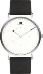 Zilveren Danish Design watches edelstalen herenhorloge On The Dot II Silver Black IQ12Q1274