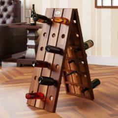 Bruine Monzana Opklapbaar wijnrek voor 36 flessen in stijlvol design