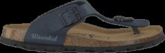 Bruine Blauwe Warmbat Slippers 081503