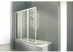 Huppe Combinett 3 delige badklapwand 140x140cm matzilver profiel en helder glas ac0401087321