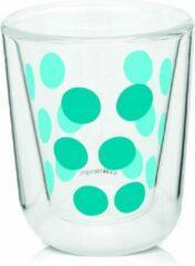 Blauwe Zak!designs Espressoglas Dot Dot Dubbelwandig 75 Ml Glas Aqua