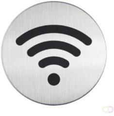 Roestvrijstalen Infobord pictogram Durable 4785 Wifi 83 mm