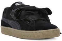 Zwarte Puma Basket Heart Metallic Safari 364083-03, Vrouwen, Zwart, Sneakers maat: 40.5 EU