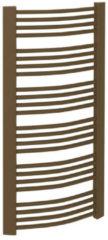 Handdoekradiator Sapho Egeon Gebogen 59.5x174.2 cm Brons