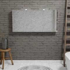 Zaro Beam Spiegelkast 150x70x16cm wit marmer 3 deuren