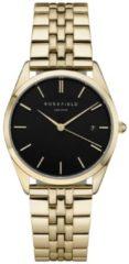 Rosefield Watches - The Ace Dames Horloge | Zwart/Goud | Roestvrijstalen band | Rond | Quartz uurwerk | Waterdicht | 3 ATM | Ø33 mm