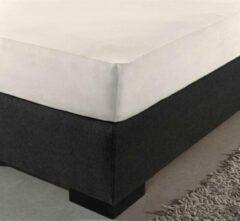 Creme witte Dekbeddenwereld Het ultieme zachte hoeslaken- jersey- stretch- 100% katoen- 200x200+40cm- Lits-jumeaux- crème
