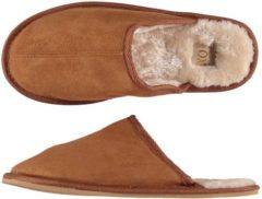 Apollo Pantoffels heren - cognac bruine slof - Maat 45/46