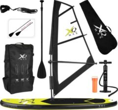 XQ Max Windsurf/ Sup board 305 cm - Complete set met draagtas - Max 150 kg - Zeil 2m²- Geel Zwart