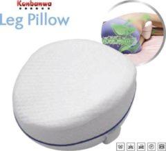Witte Konbanwa pillow Konbanwa Ergonomisch kniekussen – zijslaap kussen van traagschuim - Leg Pillow