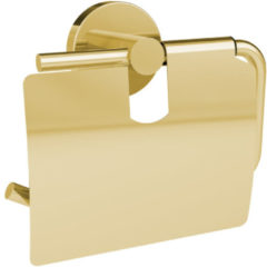 Douche Concurrent Toiletrolhouder Allibert Coperblink met Klep RVS Glanzend Goud