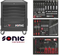 SONIC Equipment Sonic gereedschapswagen gevuld 140 delig zwart S7