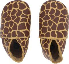 Bruine Bobux - Soft Soles - Fall Leaf Giraffe Print - Babyslofjes EU 22