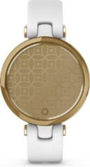 Paarse Garmin Lily, Classic, Gold Bezel with White Case - Italian Leather Band