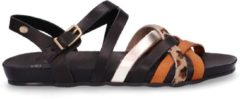 Fred de la Bretoniere Sandalen Sandal With Cork Footbed Bruin Maat:38
