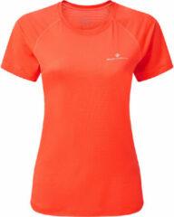 Koraalrode Ronhill Women's Tech Short Sleeve Running Tee - Hardloopshirts (korte mouwen)