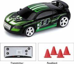 Groene DrPhone TinyCars2 - 1:58 Bluetooth R/C Racer 2.4Ghz Besturing tot 30 meter - 20 KM/H - Bestuurbare Auto voor IOS / Android - Explorer
