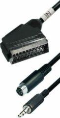Cablexpert S-VHS en 3,5mm Jack (m) naar Scart (m) kabel / zwart - 15 meter