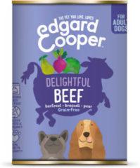 Edgard-Cooper Edgard&Cooper Blik Beef Adult - Hondenvoer - Rund Rode Biet Broccoli 400 g Graanvrij
