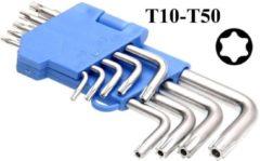 Zilveren Merkloos / Sans marque Torx 9-delige sleutelset / schroevendraaier set met houder - gereedschapset voor thuis - Torx sleutelset