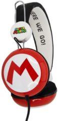 Rode OTL Technologies Super Mario Iconisch Symbool M Headset - Koptelefoon voor Kinderen en Tieners