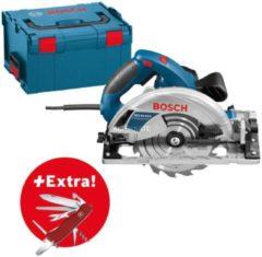 Bosch Handkreissäge GKS 65 GCE, Klappmesser Victorinox i n L-BOXX