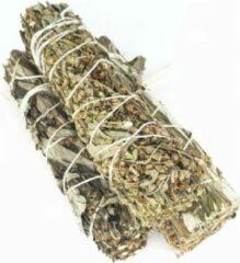 FineGoods Zwarte Salie - black sage - mugwort - smudge stick - 1 stuk - 10cm - meditatie - yoga - huis reiniging - zuivering