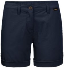 Donkerblauwe Jack Wolfskin DESERT SHORTS W Outdoorbroek Dames - midnight blue